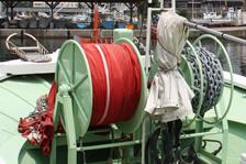 福井・越前・釣り船金松丸の油圧アンカーウインチ