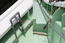 福井・越前・釣り船金松丸の生簀海水循環ポンプ